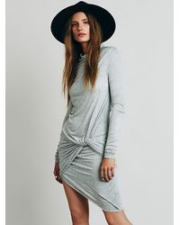 Free People | Gray Metrical Dress | Lyst
