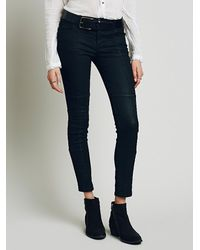 Free People | Black Womens Jillian Seamed Skinny | Lyst
