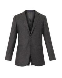 Lanvin - Gray Attitude-Fit Wool Blazer for Men - Lyst
