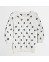 J.Crew - Gray Factory Intarsia Charley Sweater in Polka Dot - Lyst