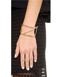 Elizabeth and James - Metallic Bauhaus Bar Cuff Bracelet - Lyst