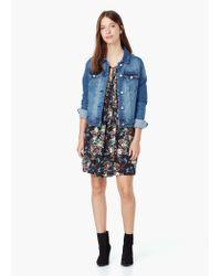 Mango - Blue Floral Print Dress - Lyst