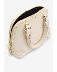 Forever 21 | Natural Studded Faux Leather Satchel | Lyst