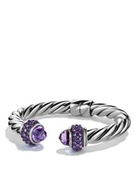 David Yurman | Purple Osetra Bracelet With Amethyst | Lyst