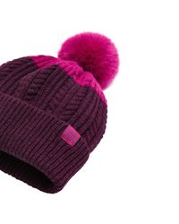 Joules - Red Two Tone Bobble Hat - Lyst