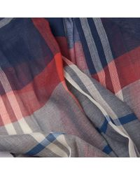 Barbour - Blue Summer Dress Wrap - Lyst