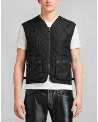 Belstaff | Lambfell Vest In Black Polyamide for Men | Lyst