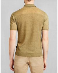 Belstaff - Yellow Kash Polo Sweater for Men - Lyst
