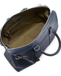 Dunhill Blue Hampstead Leather Travel Bag