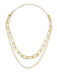 Jennifer Zeuner - Metallic Ema Double-layer Chain Necklace - Lyst