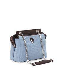 Fendi - Blue Dot Com Mini Denim Satchel Bag - Lyst