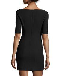 Elizabeth and James - Black Aiden Ponte Mini Dress - Lyst