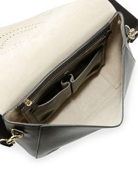 Anya Hindmarch - Black Ebury Perforated Smiley Satchel Bag - Lyst