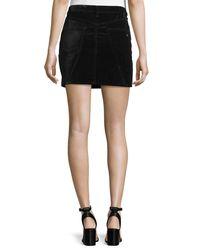 Rag & Bone - Black Dive Velvet Mini Skirt - Lyst
