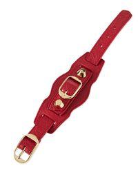 Balenciaga - Gray Classic Leather Single-strap Bracelet - Lyst
