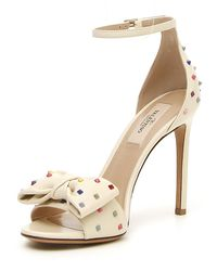 Valentino White Rainbow Rockstud D'orsay Sandal