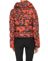 Givenchy - Red Abstract-print Puffer Coat - Lyst