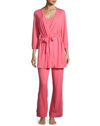 Cosabella | Pink Bella Maternity 3-piece Pajama Set | Lyst