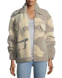 Rag & Bone | Natural Jake Shearling Camouflage Jacket | Lyst