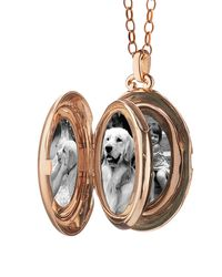 Monica Rich Kosann - Multicolor 18k Rose Gold Four-picture Locket Necklace With Diamond Border - Lyst