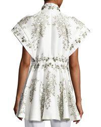 Moncler - White Giubbotto Short-sleeve Zip-front Top - Lyst