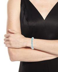 Sydney Evan - Blue 14k Larimar Beaded Stretch Bracelet W/ Moroccan Star - Lyst