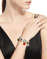 DANNIJO - Multicolor Figgy Floral Cuff Bracelet - Lyst
