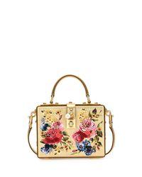 Dolce & Gabbana - Metallic Dolce Box Medium Mirror Crystal Shoulder Bag - Lyst