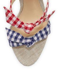 Alexandre Birman | Blue Lolita Gingham Three-strap Sandal | Lyst
