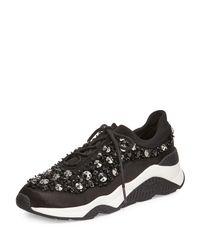 Ash - Black Muse Beaded Mesh Sneaker - Lyst