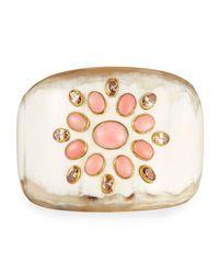 Ashley Pittman | Multicolor Bendi Light Horn Coral Cuff Bracelet | Lyst