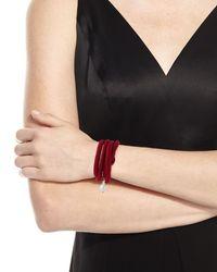 Grazia And Marica Vozza | Black Woven Silk Bracelet With Pearl Charm | Lyst