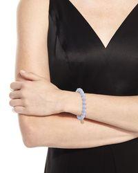 Sydney Evan | Anniversary Blue Lace Agate Beaded Bracelet With Diamond Smiley Charm | Lyst