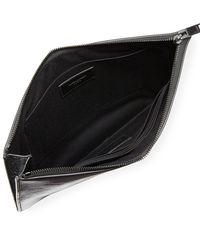 Saint Laurent | Black Monogram Patent Leather Zip Pouch | Lyst