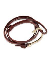 Miansai   Brown Hook Leather Bracelet   Lyst