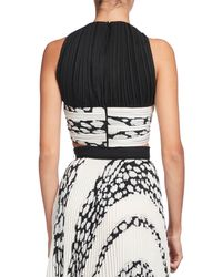Proenza Schouler - Black Printed Cloque Crop Top - Lyst