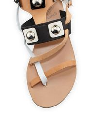Ancient Greek Sandals - Multicolor Caged Leather Gladiator Sandals  - Lyst