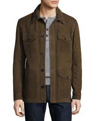 Tom Ford - Green Nubuck Four-pocket Jacket for Men - Lyst