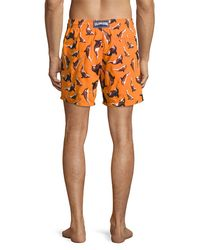 Vilebrequin - Orange Limited Edition Mistral Embroidered Whale Swim Trunks for Men - Lyst