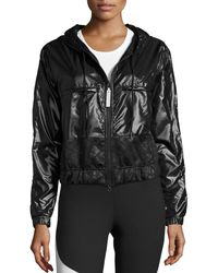 Adidas By Stella McCartney - Black Climastorm® Embossed Run Jacket - Lyst