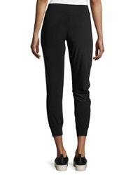 Norma Kamali - Black Side-stripe Jogger Pants - Lyst