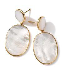 Ippolita - Multicolor 18k Rock Candy Mother-of-pearl Snowman Earrings - Lyst