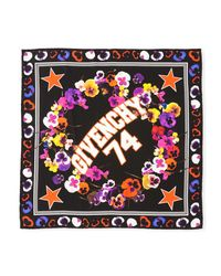 Givenchy - Multicolor 74 & Flowers Silk Swill Square Scarf - Lyst
