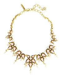Oscar de la Renta - Metallic Pear Cabochon Collar Necklace - Lyst