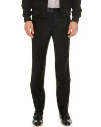 Alexander McQueen - Black Wool/mohair Trousers for Men - Lyst
