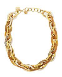 Ashley Pittman Metallic Ndovu Light Horn & Bronze Necklace