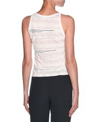 Giorgio Armani - White Sleeveless Textured Knit Top - Lyst