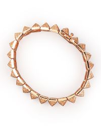 Eddie Borgo - Metallic Small Pave Pyramid Bracelet - Lyst