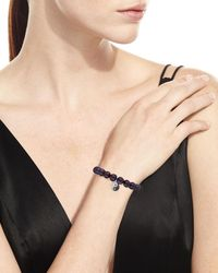 Sydney Evan - 9mm Black Peacock Pearl Beaded Bracelet With Diamond Yin Yang Charm - Lyst