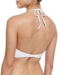 Marysia Swim - White Aloha Zigzag Mesh Swim Top - Lyst